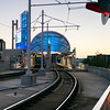 Railway station in Minneapolis, Hennepin County, Minnesota, USA