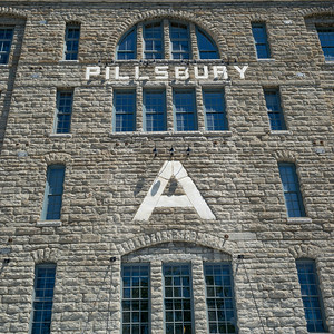 Facade of the Pillsbury A-Mill, Minneapolis, Hennepin County, Minnesota, USA