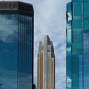 Downtown Minneapolis skyline, Hennepin County, Minnesota, USA