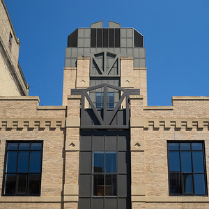 Art Deco Facade of an office building, Minneapolis, Hennepin County, Minnesota, USA