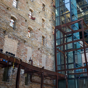 Low angle view of the Mill City Museum, Minneapolis, Hennepin County, Minnesota, USA
