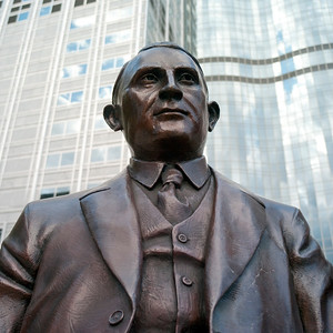 Statue at the Mayo Clinic in Rochester, Minnesota, USA