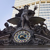 Clock and Statue outside Grand Central Terminal, Manhattan, New York City, New York State, USA
