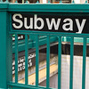 Close-up of a subway sign, New York City, New York State, USA