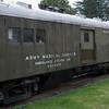 US Army Medical Service ambulance kitchen car at Northwest Railway Museum, Snoqualmie, Washington State, USA