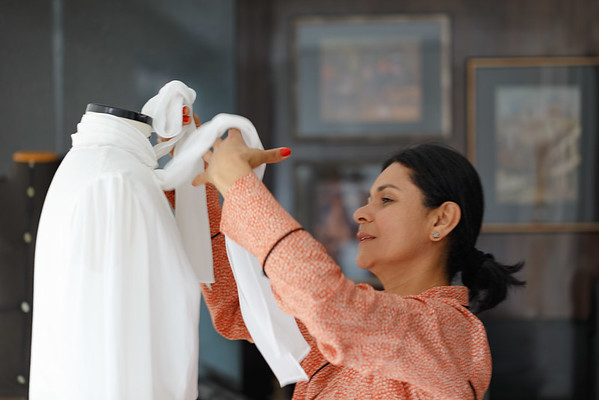 Editorial One Lady Official com o vestido que circulará na Semana de Moda de Paris. São Paulo, 24/09/2017. Foto: Murillo Medina.