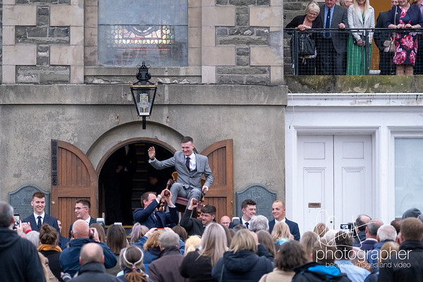 Selkirk Common Riding, Picking Night at Market Place, SELKIRK, UK.
