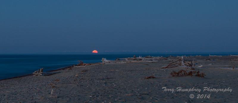 Moonrise at Whitefish Point