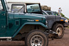 Landcruisers and Jeeps getting along like old friends - The U P  Overland brings them all together in Michigan - Photo by Pat Bonish