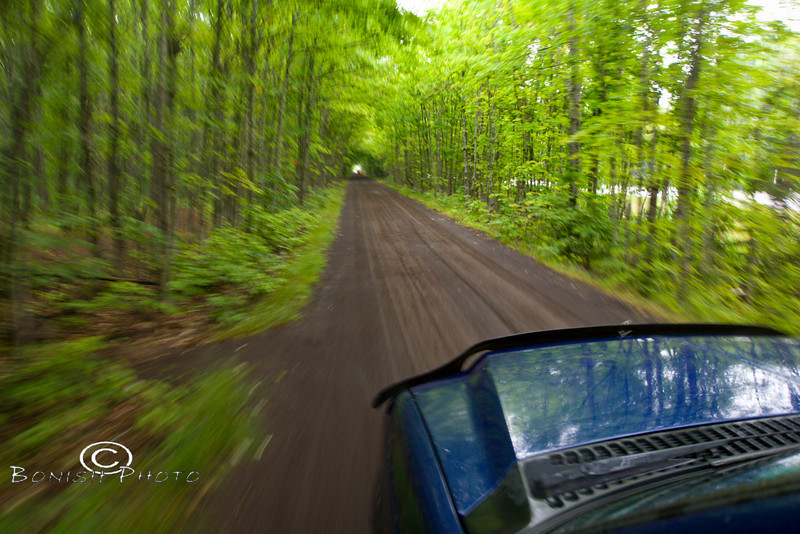 Some of the trails were smooth and fast in the Upper Peninsula of Michigan - Photo by Pat Bonish