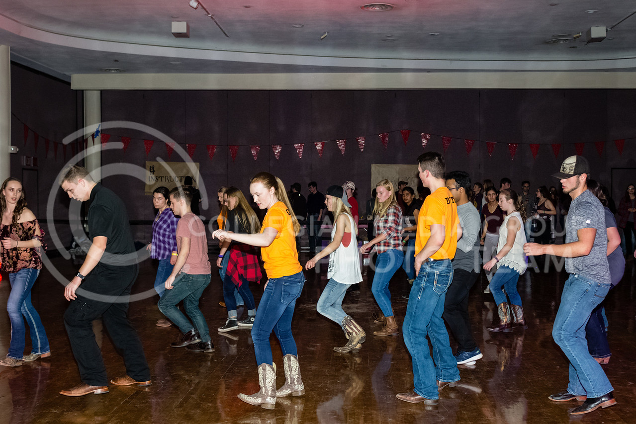 UPC hosted a night of Wild Wild West fun, There was a mechanical bull in the Union Courtyard, and dancing took place in the Union Ballroom with the Swingin' Spurs. (Alex Shaw | Collegian Media Group)