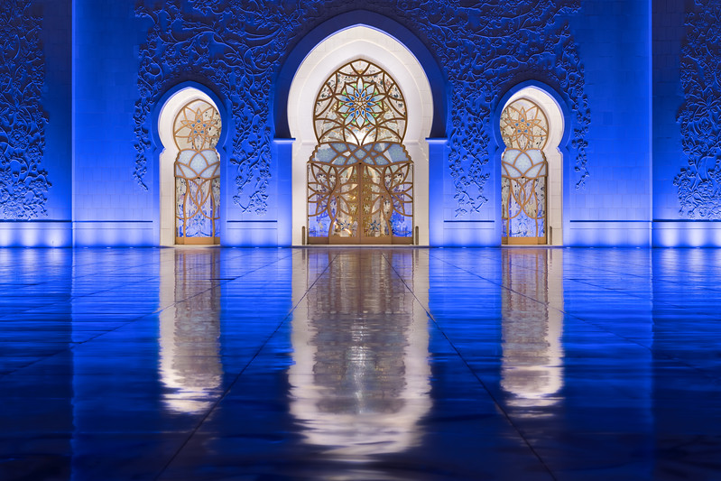 Doors to Sheilkh Zayed Grand Mosque