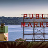 PUBLIC MARKET. PIKE PLACE- SEATTLE