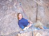 Our first good belay ledge.