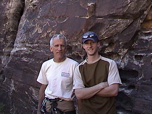 At the first annual Red Rocks Rendezvous in Red Rocks, NV with legendary climber Jim Donnini.