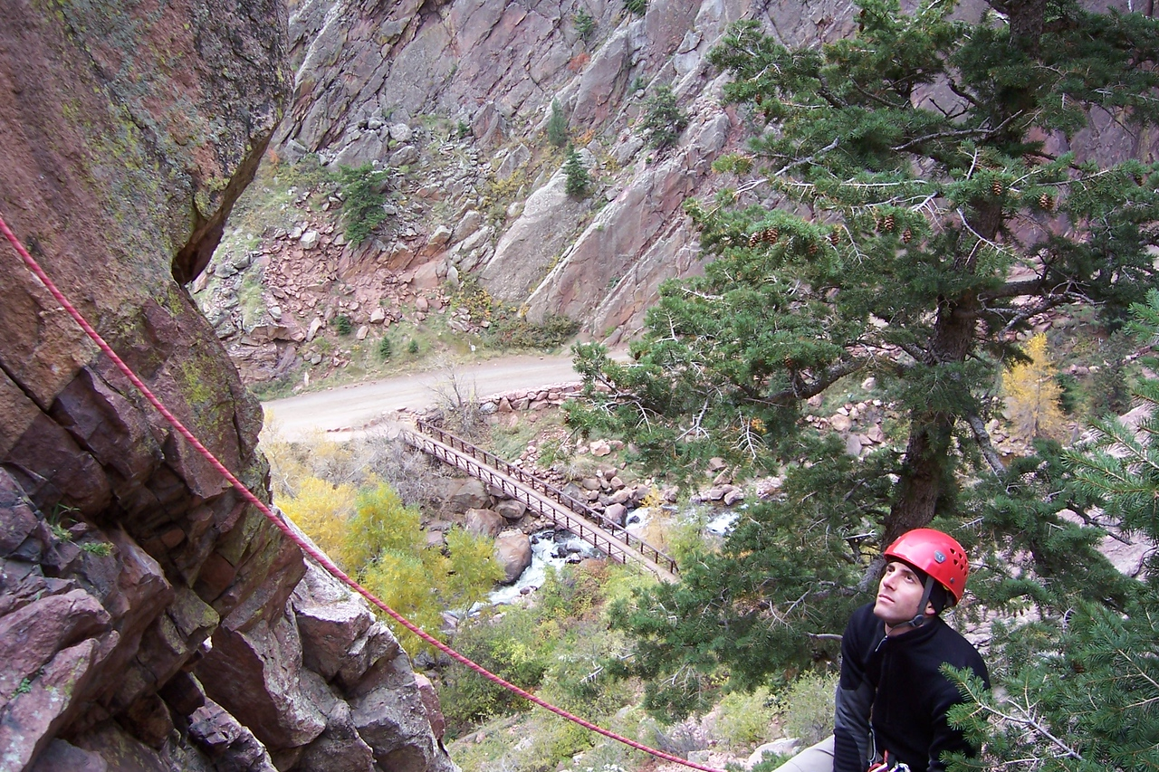 Kevin, who I met at REI, climbs in Eldo all the time