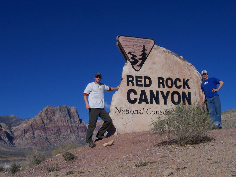 Left Cheyenne on Sunday, Jan 29th and went to Ogden, Utah to pick up my climbing partner and friend Blake.  We left the next day and stopped in Red Rocks which is just west of Las Vegas.