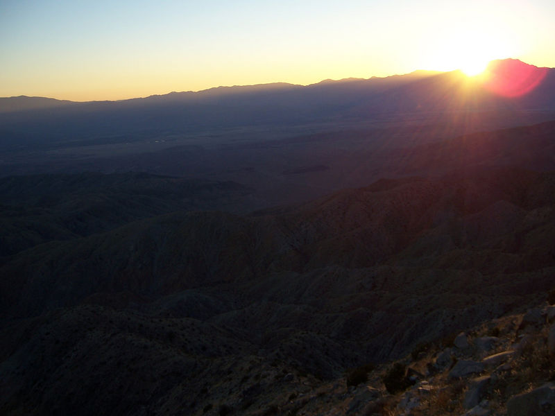 Keys View at sunset
