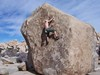 Bouldering at the campground.