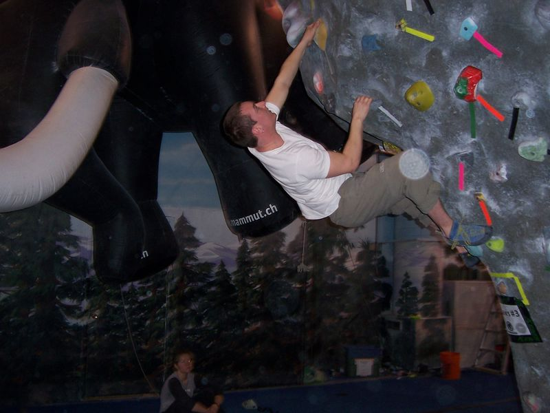 bouldering at The Spot