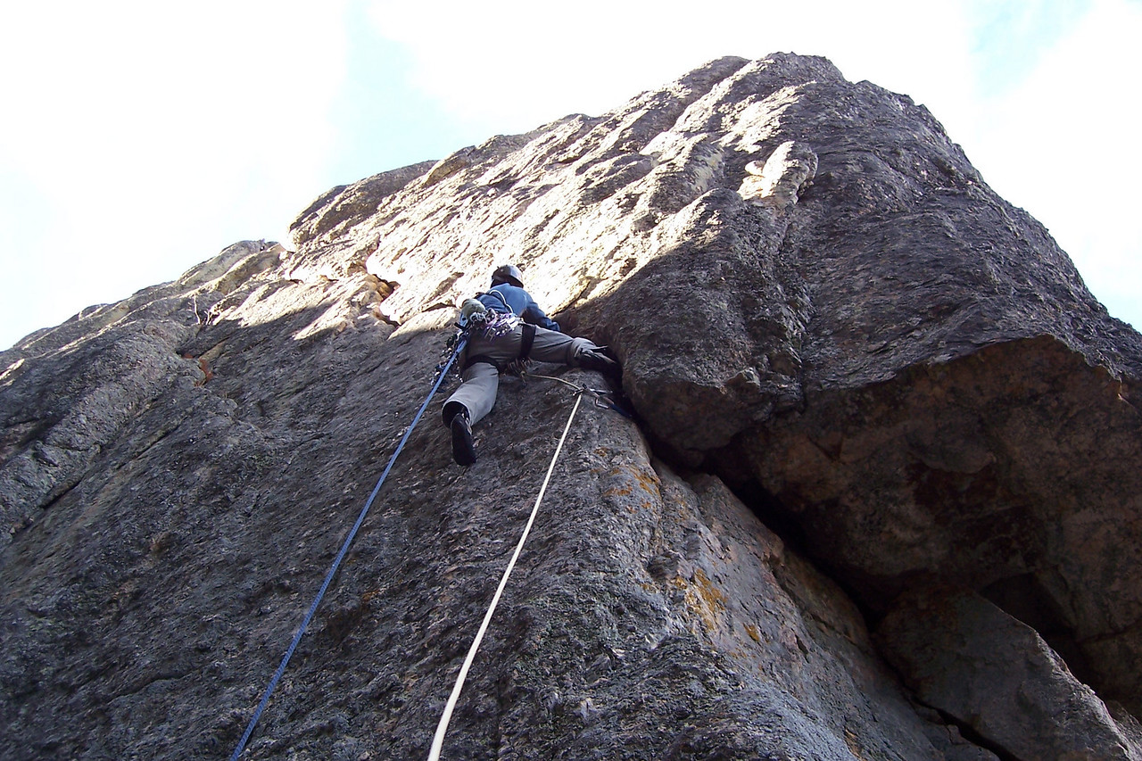 "This is an awesome long diagonal line that was harder than I thought it'd be. The name of the climb is ""Sex Never Did This To My Hands"". On the first ascent one guy remarked, ""this climb is better than sex!"". ""Sex never did this to my hands"", replied his partner."