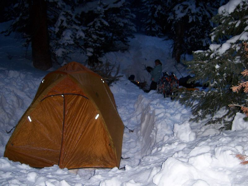 high camp in the Rockies at over 10,500'