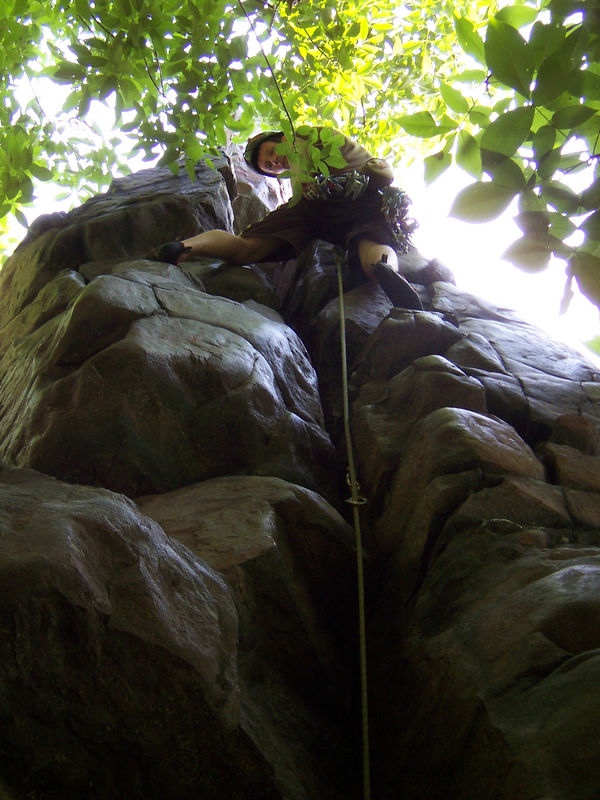 early morning climbing for Dan & me