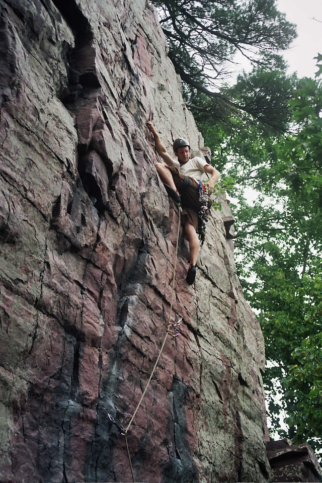 Watermarks 5.8 - a popular climb at the lake, protected with some very small gear