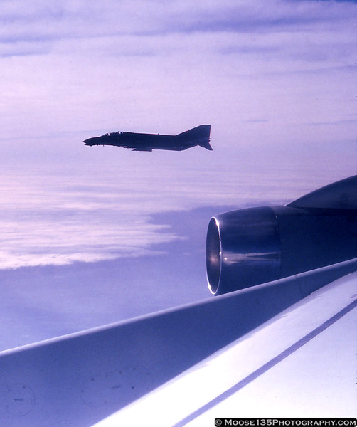 F-4D on the wing during a refueling mission, January 1986.