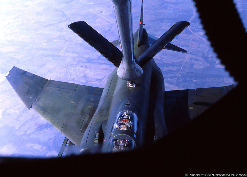 Filling up an F-4D, January 1986.