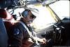 Capt. Ray Parrish, aircraft commander, crossing the Atlantic.