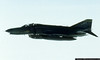 F-4E flies off our wing somewhere over the Atlantic Ocean, enroute to England.