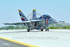 F-18F-USN-VFA-2 0011 A colorful Boeing F-18F Super Hornet jet fighter USN 166804 VFA-2 BOUNTY HUNTERS CAG USS Carl Vinson taxis at NAS Fallon 4-2016 military airplane picture by Peter J  Mancus