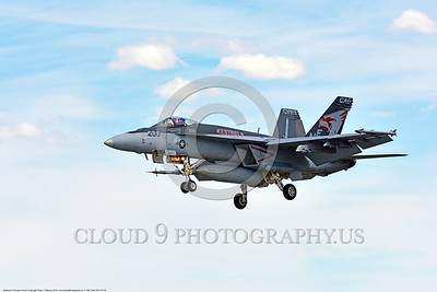 F-18E-USN-VFA-137 0004 A Boeing F-18E Super Hornet USN 165897 jet fighter VFA-137 KESTRELS CAG USS Carl Vinson lands at NAS Fallon 4-2016 and converts rubber into smoke military airplane picture by Peter J  Mancus