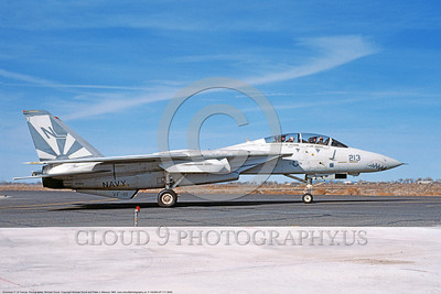 F-14USN-VF-111 0045 A taxing Grumman F-14 Tomcat USN 160668 VF-111 SUNDOWNERS USS Carl Vinson 3-1984 NAS Fallon, by Michael Grove, Sr     DONEwt copy