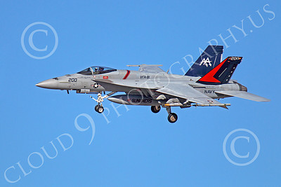 CAG 00146 Boeing F-18E Super Hornet USN 166830 VFA-81 SUNLINERS USS Carl Vinson banks to land at NAS Fallon, by Peter J Mancus
