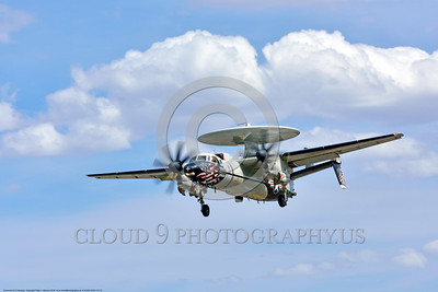 E-2USN-VAW-113 0012 A landing colorful Grumman E-2C Hawkeye airborne control aircraft VAW-113 BLACK EAGLES USS Carl Vinson 4-2016 military airplane picture by Peter J  Mancus