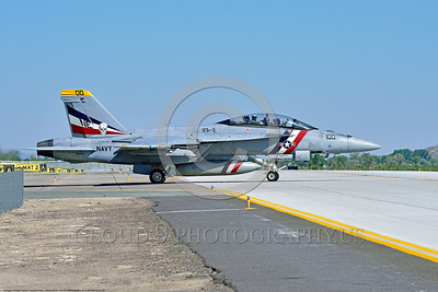 F-18F-USN-VFA-2 0001 A colorful Boeing F-18F Super Hornet jet fighter USN 166804 VFA-2 BOUNTY HUNTERS CAG USS Carl Vinson taxis at NAS Fallon 4-2016 military airplane picture by Peter J  Mancus