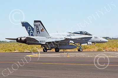 CAG 00123 McDonnell Dougllas F-18C Legacy Hornet USN 164658 VFA-113 STINGERS USS Carl Vinson taxis at NAS Fallon, by Peter J Mancus