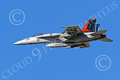 CAG 00122 Boeing F-18E Super Hornet USN 166830 VFA-81 SUNLINERS USS Carl Vinson, with bombs, by Peter J Mancus