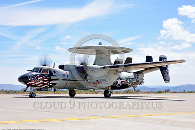 E-2USN-VAW-113 013 A colorful Grumman E-2C Hawkeye USN 165819 VAW-113 BLACK EAGLES USS Carl Vinson taxis for take-off at NAS Fallon 4-2016 military airplane picture by Peter J  Mancus