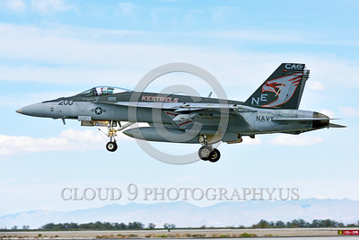 F-18E-USN-VFA-137 0002 A Boeing F-18E Super Hornet USN 165897 jet fighter VFA-137 KESTRELS CAG USS Carl Vinson lands at NAS Fallon 4-2016 military airplane picture by Peter J  Mancus