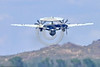 E-2USN-VAW-113 002 A Grumman E-2C Hawkeye USN 165819 VAW-113 BLACK EAGLES USS Carl Vinson climbs out after take-off at NAS Fallon 4-2016 military airplane picture by Peter J  Mancus