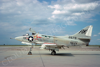 A-4USN 00019 Douglas A-4C Skyhawk USN 142679 VA-95 USS Intrepid NAS Leemore 18 March 1967 by Clay Jansson