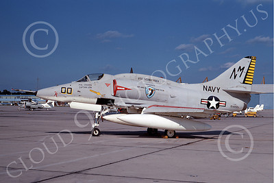 A-4USN 00022 A US Navy Douglas A-4F Skyhawk attack jet, 154202, USS Ticonderoga, COMMANDER AIRWING THIRTEEN, NAF Wash 3-69, military airplane picture, by Michael Grove, Sr