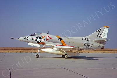 A-4USN 00013 Douglas A-4C Skyhawk USN 148490 VA-112 USS Ticonderoga NAS Leemore 20 October 1968 by Clay Jansson