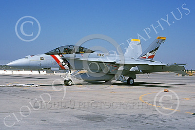 Boeing F-18F-USN 00081 A static Boeing F-18F Super Hornet USN 165916 VFA-2 BOUNTY HUNTERS USS Abraham Lincoln NAS Fallon 6-2003 military airplane picture by Michael Grove, Sr