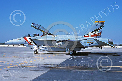 Boeing F-18F-USN 00181 A static Boeing F-18F Super Hornet USN 165916 VFA-2 BOUNTY HUNTERS USS Abraham Lincoln NAS Fallon 6-2003 military airplane picture by Michael Grove, Sr