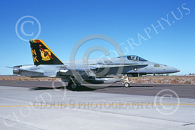 Boeing F-18C-USN 00201 A taxing Boeing F-18C Hornet USN 164633 VFA-25 FIST OF THE FLEET USS Abraham Lincoln CAG NAS Fallon 10-1997 military airplane picture by Michael Grove, Sr