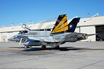 F-18C-USN-VFA-151 0003  A static McDonnell Douglas F-18C Hornet USN jet fighter 164716 VFA-151 VIGILANTES commanding officer's airplane CAG USS Abraham Lincoln NAS Lemoore 10-2005 military a ...